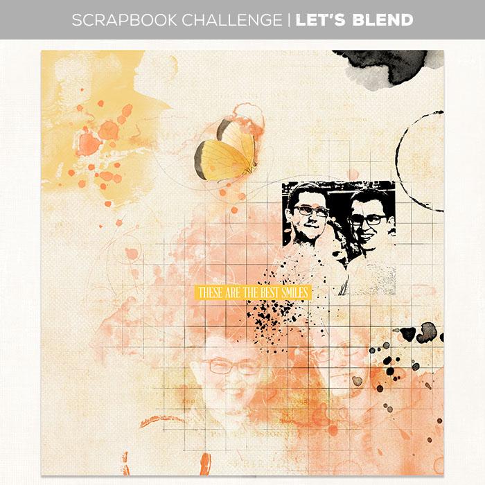 Artsy scrapbook challenge
