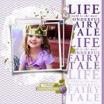 Purple Fairytale scrapbook page