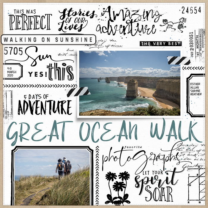 Typography scrapbook page