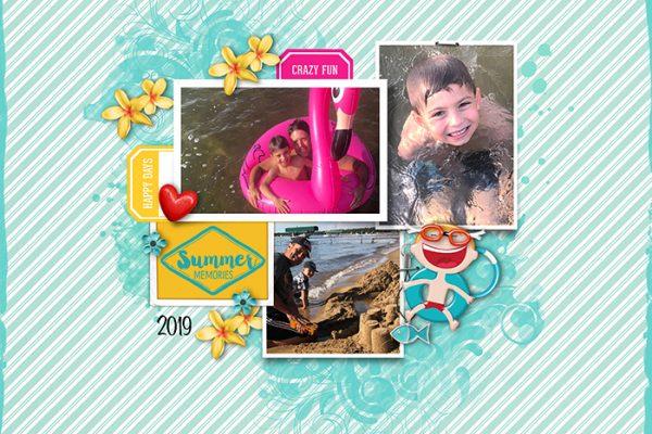Katie Pertiet Designs Scrapbook Page