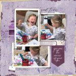 Purple Scrapbook Page