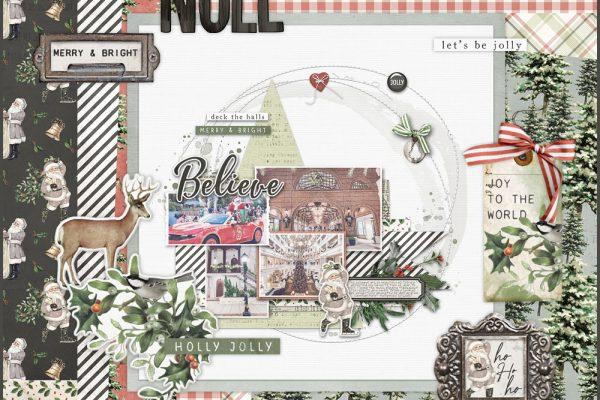 Katie Pertiet Designs Vintage Christmas Scrapbook