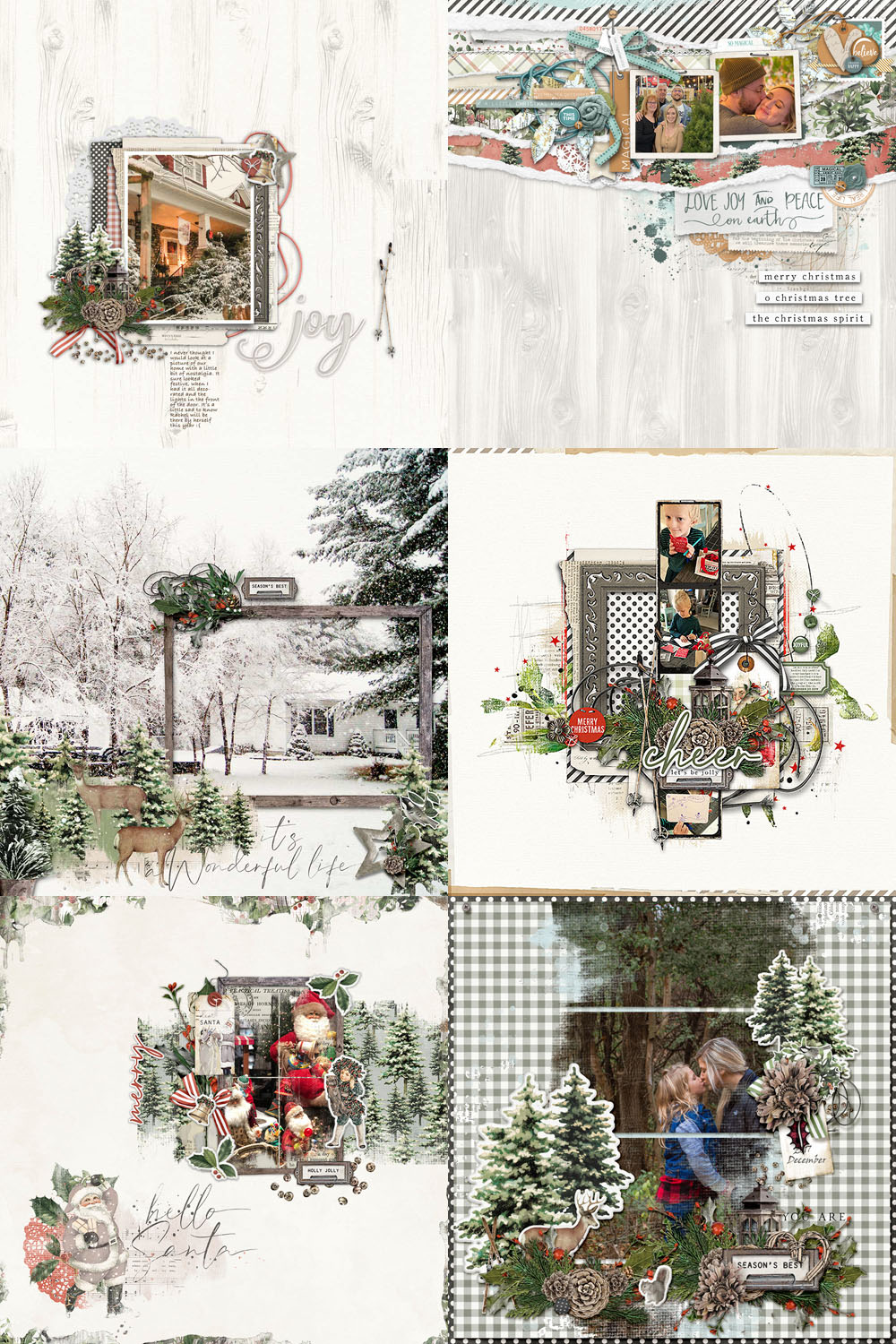 Katie Pertiet Designs Scrapbook layouts