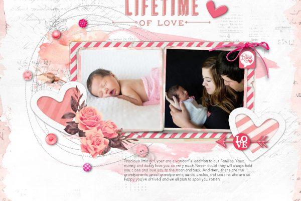 Welcome Newborn Scrapbook Page