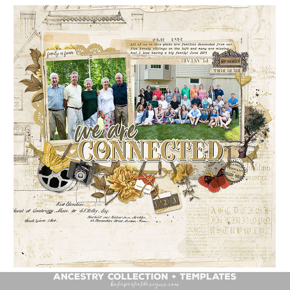 Ancestry Scrapbook Page Templates