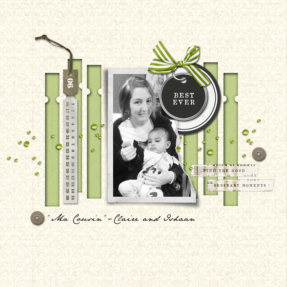 Get Inspired challenge - using date tags to make cut outs in background paper