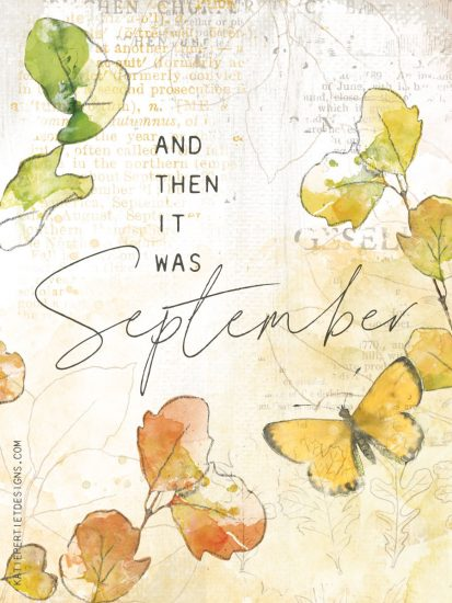 And then it was September Journal Card