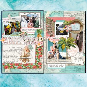 Katie Pertiet Scrapbook Cruise Layout