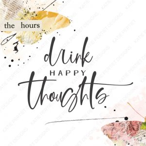 Katie Pertiet Drink Happy Thoughts