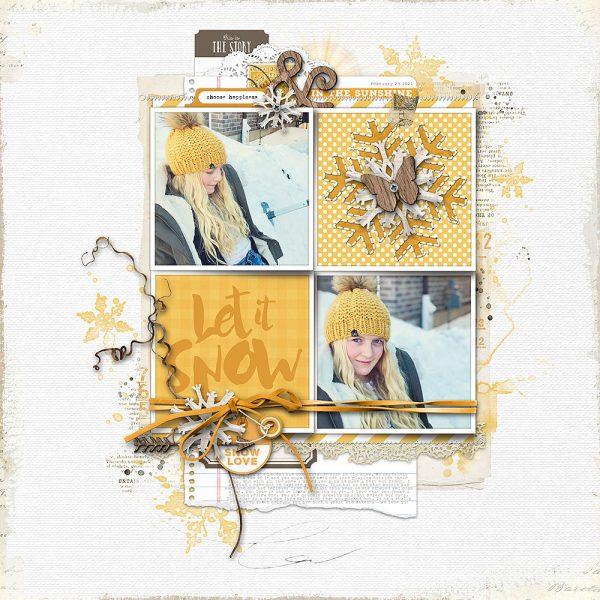 Katie Pertiet Designs Scrapbook Page Layout