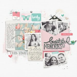 Katie Pertiet Designs Scrapbook Page Layout